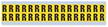 Small Vinyl Cloth Letter 'R' Label, 0.625 Inch