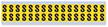 Small Vinyl Cloth Letter 'S' Label, 0.625 Inch