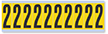 Numeric '2' Vinyl Cloth Label, 2 Inch