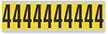 Numeric '4' Vinyl Cloth Label, 2 Inch