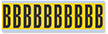Alphabet 'B' Vinyl Cloth Label, 2 Inch