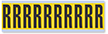 Alphabet 'R' Vinyl Cloth Label, 2 Inch