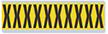Alphabet 'X' Vinyl Cloth Label, 2 Inch