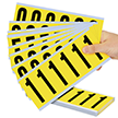 Vinyl Cloth 0-9 Numeric Kit Label, 3 Inch