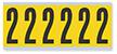 Numeric '2' Vinyl Cloth Label, 3 Inch