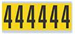 Numeric '4' Vinyl Cloth Label, 3 Inch