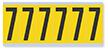 Numeric '7' Vinyl Cloth Label, 3 Inch