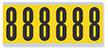 Numeric '8' Vinyl Cloth Label, 3 Inch