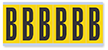 Alphabet 'B' Vinyl Cloth Label, 3 Inch