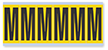 Alphabet 'M' Vinyl Cloth Label, 3 Inch
