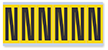 Alphabet 'N' Vinyl Cloth Label, 3 Inch