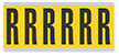 Alphabet 'R' Vinyl Cloth Label, 3 Inch