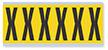 Alphabet 'X' Vinyl Cloth Label, 3 Inch