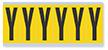 Alphabet 'Y' Vinyl Cloth Label, 3 Inch