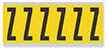 Alphabet 'Z' Vinyl Cloth Label, 3 Inch