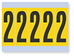 Number '2' Vinyl Cloth Label, 4 Inch