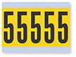 Number '5' Vinyl Cloth Label, 4 Inch