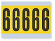 Number '6' Vinyl Cloth Label, 4 Inch