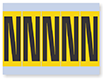 Alphabet 'N' Vinyl Cloth Label, 4 Inch