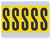 Vinyl Cloth Alphabet 'S' Label, 4 Inch