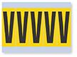 Vinyl Cloth Alphabet 'V' Label, 4 Inch