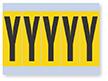 Vinyl Cloth Alphabet 'Y' Label, 4 Inch