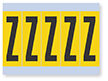 Vinyl Cloth Alphabet 'Z' Label, 4 Inch