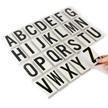 Vinyl Letters Kit 3.5 Inch Tall Black on White