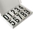 Vinyl Numbers Kit 3.5 Inch Tall Black on White