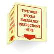 GlowSmart™ Custom Projecting Emergency Sign