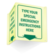 GlowSmart™ Custom Projecting Emergency Door Sign