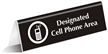 Designated Cell Phone Area (with Graphic) Engraved Sign