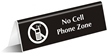 No Cell Phone Zone (with Graphic) Engraved Sign