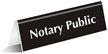 Notary Public Table Top Sign