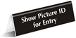 Show Picture ID for Entry Sign