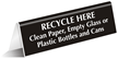 Recycle Here Office Tabletop Tent Sign