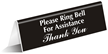 Ring Bell Office Tabletop Tent Sign