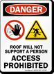 Access Prohibited OSHA Danger Sign