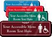 Accessible Mens Room Symbol Sign