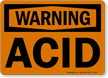 Warning Acid Sign