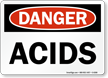 Acids OSHA Danger Sign