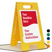 Add Headline And Instructions Custom Standing Floor Sign