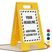 Add Headline And Text Custom Standing Floor Sign