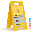 Add Logo Headline Custom Standing Floor Sign