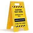 Add Text And Contact Number Custom Standing Floor Sign