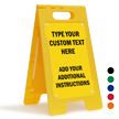 Add Your Text And Instruction Custom Standing Floor Sign