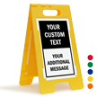 Add Your Text And Message Custom Standing Floor Sign