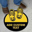 Add Your Text Custom SlipSafe Floor Sign