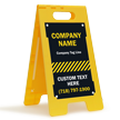 Add Your Text Custom Standing Floor Sign