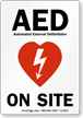 AED On Site Sign